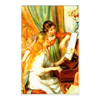 Girls at the Piano Stationery Paper