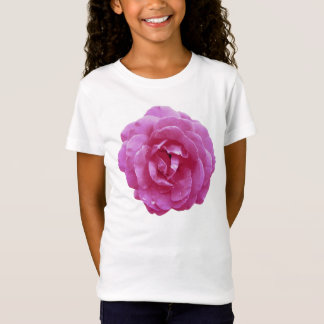Girl's Baby Doll Tee (Fitted) - Dark Pink Rose