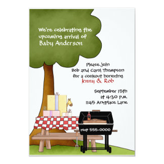 Girls Baby Shower Bar-B-Que Invitation