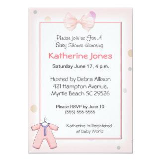 Girls Baby Shower Invitation