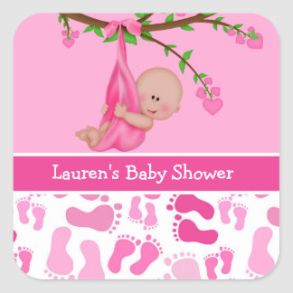 Girl's Baby Shower Stickers