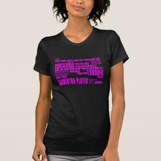 Girls Badminton : Pink Greatest Badminton Player T-shirt