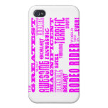 Girls Badminton : Pink Greatest Rodeo Rider Cases For iPhone 4