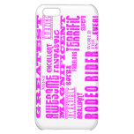 Girls Badminton : Pink Greatest Rodeo Rider iPhone 5C Cases