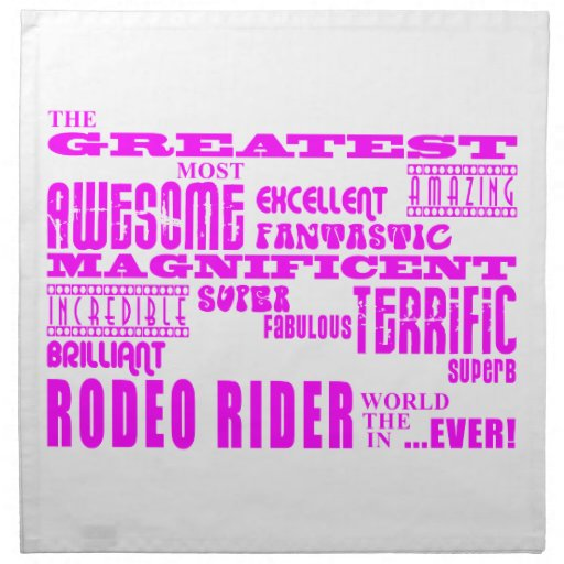 Girls Badminton : Pink Greatest Rodeo Rider Cloth Napkins