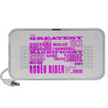 Girls Badminton : Pink Greatest Rodeo Rider Travelling Speaker