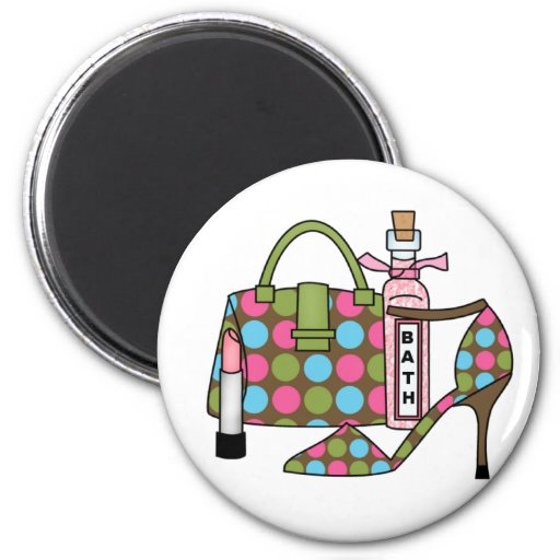 Girls Bags and Shoes Three 2 Inch Round Magnet