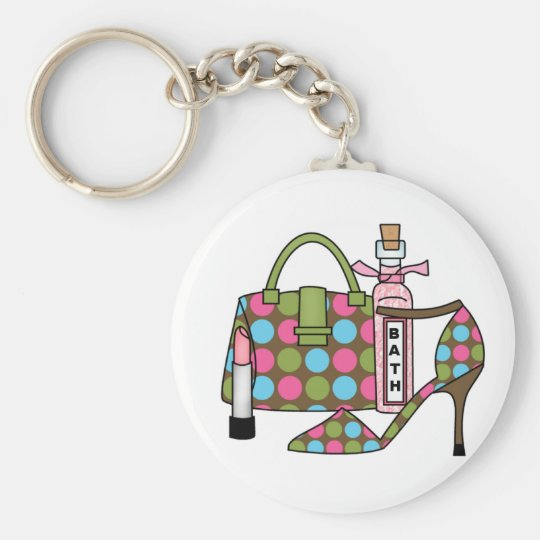 Girls Bags and Shoes Three Keychain