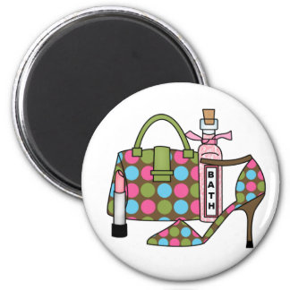Girls Bags and Shoes Three Refrigerator Magnet