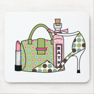 Girls Bags and Shoes Two Mouse Pad