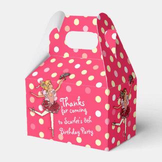 Girls Ballerina 8th birthday party thanks gift box