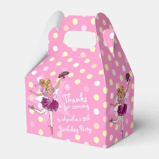 Girls Ballerina 9th birthday party thanks gift box Favor Boxes