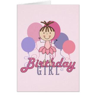 Girls Ballerina Birthday Card