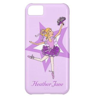 Girls ballerina blonde hair purple iphone5 case