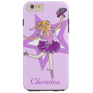Girls ballerina blonde purple case