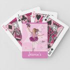 Girl's ballerina pink playing cards