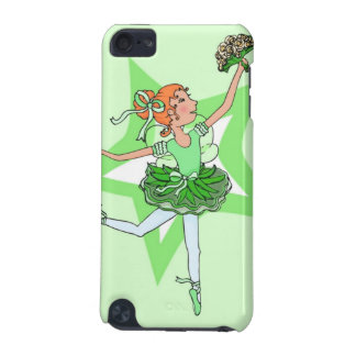 Girls ballerina red hair green case