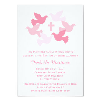 Girls Baptism Baby Dedication First Holy Communion Card