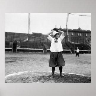 Girls Baseball, 1913 Poster
