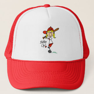 Girls Baseball Batter Up T-shirts and Gifts Trucker Hat