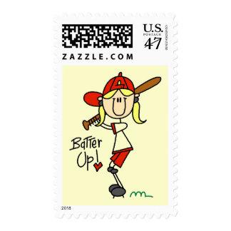 Girls Baseball Batter Up Tshirts and Gifts Postage