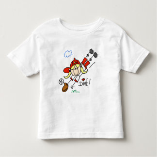 Girls Baseball Dive Tshirts and Gifts