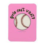 Girls Baseball-Green Flexible Magnet
