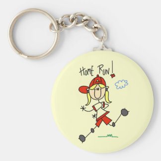 Girls Baseball Home Run Tshirts and Gifts Keychains