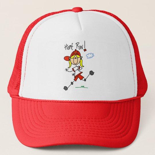 Girls Baseball Home Run Tshirts and Gifts Trucker Hat