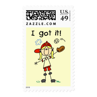 Girls Baseball I Got It Tshirts and Gifts Postage Stamp