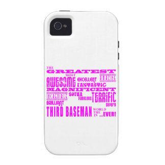Girls Baseball : Pink Greatest Third Baseman Case-Mate iPhone 4 Cover