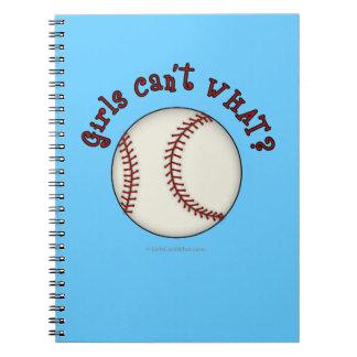 Girls Baseball-Red Notebook