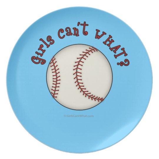 Girls Baseball-Red Plate
