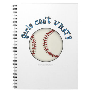 Girls Baseball-Sky Blue Notebook