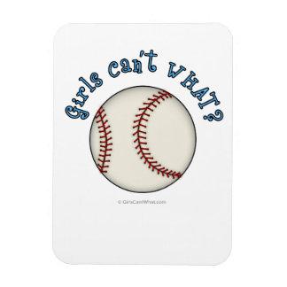 Girls Baseball-Sky Blue Rectangular Photo Magnet