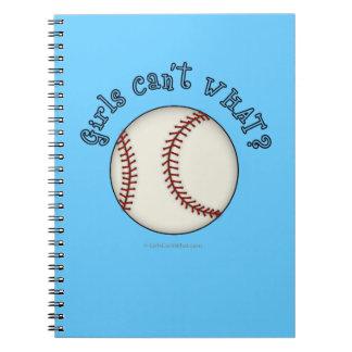 Girls Baseball-Sky Blue Spiral Notebook