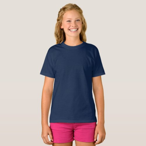 Girls Basic Dark Create It Add Artwork T_Shirt