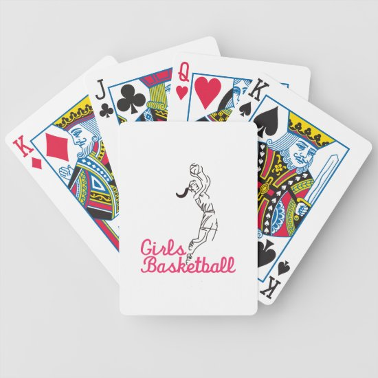 Girls Basketball Bicycle Playing Cards