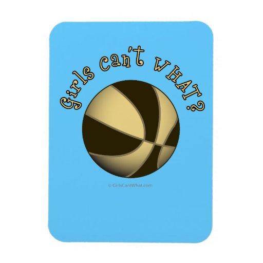 Girls Basketball - Black/Gold Rectangular Photo Magnet