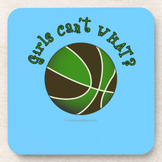 Girls Basketball - Black/Green Drink Coaster