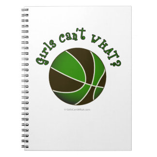 Girls Basketball - Black/Green Note Book