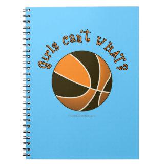 Girls Basketball - Black/Orange Spiral Notebook