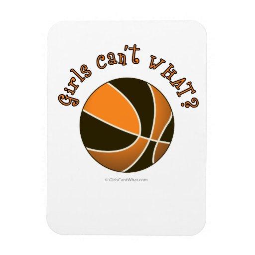 Girls Basketball - Black/Orange Rectangular Magnets