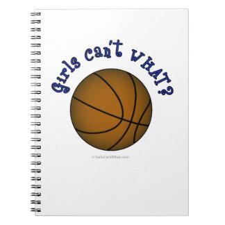 Girls Basketball - Brown/Blue Notebook