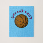 Girls Basketball - Brown/Pink Puzzle