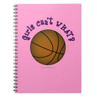 Girls Basketball - Brown/Purple Spiral Note Book