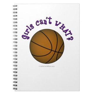 Girls Basketball - Brown/Purple Spiral Notebooks