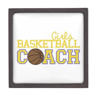 Girls Basketball Coach Keepsake Box