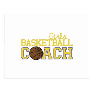 Girls Basketball Coach Postcard