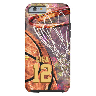 Girls Basketball girly pink purple Tough iPhone 6 Case